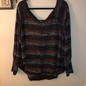 Barely worn free people striped long sleeve S